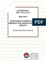 Panduan Kerja Kursus Kab 3043 Prof Isahak Haron