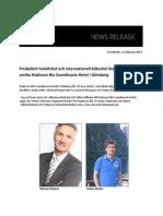 Prisbelönt hotellchef och internationell kökschef återvänder till anrika Radisson Blu Scandinavia Hotel i Göteborg
