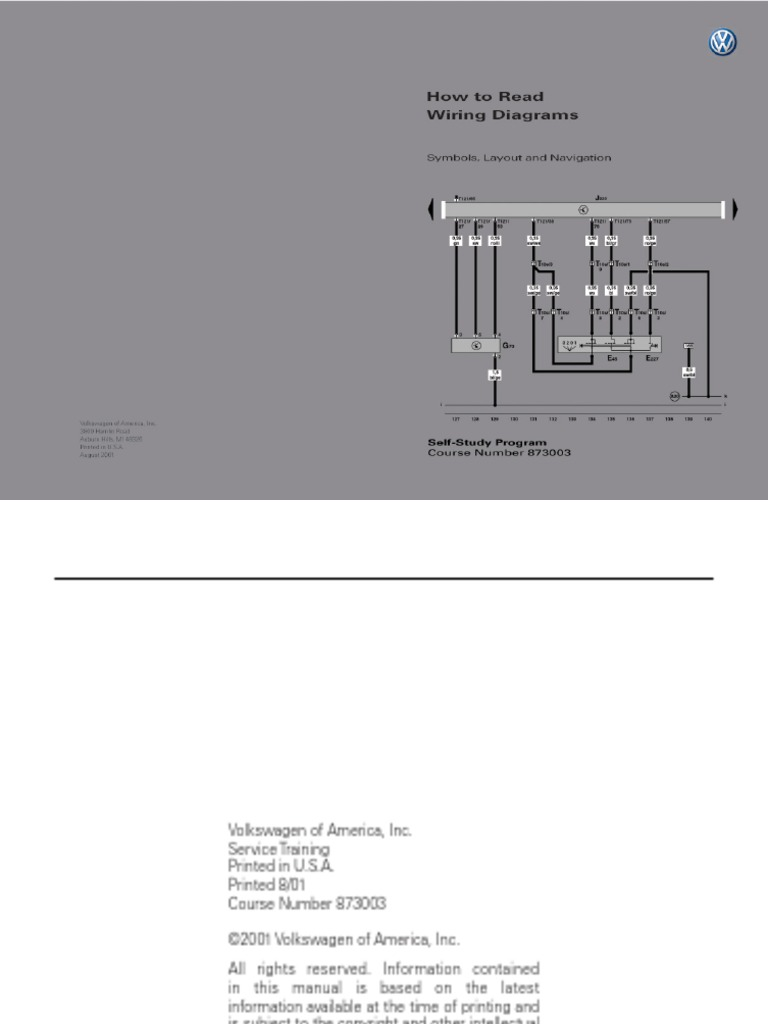 873003.Vw.how to Read Wiring Diagrams.(USA) | Switch | Electrical ConnectorScribd