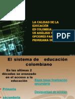 La calidad de la educación