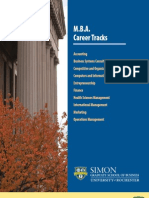 Simon MBA Career Tracks Brochure May 2010