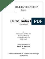 textile internship at OCM India Ltd
