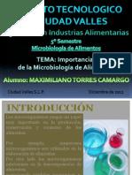 Importancia de La Microbiologia de Alimentos
