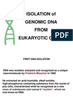 Isolation of Genomic DNA