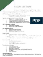 Swot Analysis & Gap Analysis