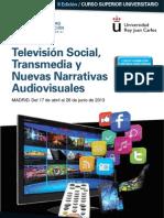 Folleto II edición CSU Experto en Televisión social, Transmedia y nuevas narrativas audiovisuales