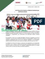 19-02-13 Boletin 1370 Agradecen vecinos de Vistas de la Cantera a Roberto Sandoval por el DIF de la Gente