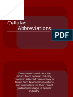 Cellular Abbreviations1