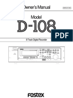 d108 Owners Manual