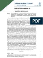 Real Decreto 860_2010 formacion profesorado para impartir educación secundaria obligatoria o de bachillerato.
