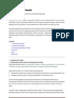 Organizational Health Reference