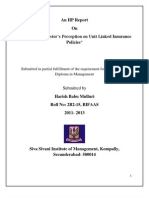A Study on Investor's Perception on ULIP's---Harish Babu Mulluri