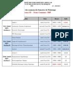 Calendrier Examen LST-Printemps 2010-11