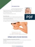 Tratamientos alternativos para el acne