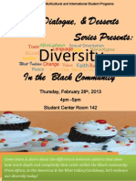 Diversity, Dialogue & Desserts Series Presents