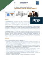 Brochure Curso Básico de Análisis Predictivo Minería de Datos y Minería de Textos (DM051)