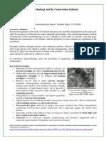 Nanotechnology and Construction Summary