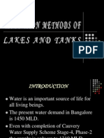 Restoration Methods of Lakes and Tanks- Ppt