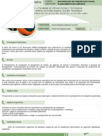 Plano de Ensino Planejamento 2012 02