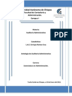 Antologia de Auditoria Administrativa