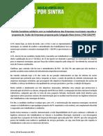 Comunicado do PS Sintra sobre a fusão de empresas municipais