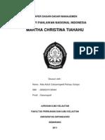 Biografi Martha Christina Tiahahu