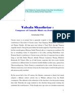 Valsala Shasthriar