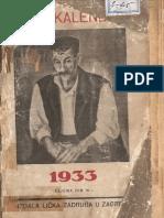 Licki kalendar iz 1933
