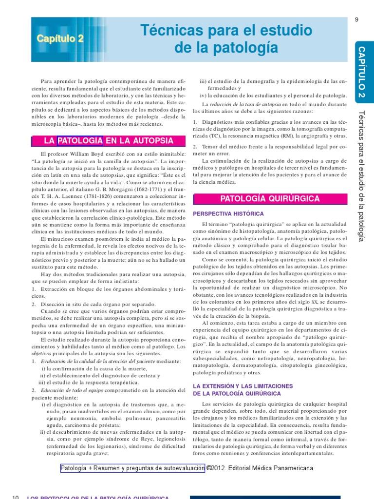 Patología + Resumen y preguntas de autoevaluación 2012