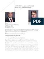 Ray Dowd & Luke McGrath- Discovery and Pre-Trial Investigations West LegalEd Center CLE 2.20.13