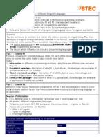 BTEC UNIT6.1 Aassignment Brief