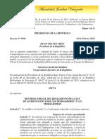 Decreto 9386 Reforma Del Reglamento de La Ley de Alimentación para los trabajadores y trabajadoras 2013