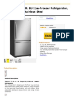 Amana 21.9 Cu. Ft. Bottom-Freezer Refrigerator, ABB2224WES, Stainless-Steel