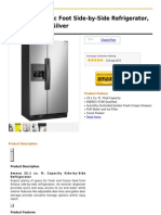 Amana 25 -Cubic Foot Side-By-Side Refrigerator, ASD2522WRD, Silver