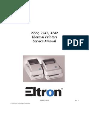 ZEBRA 27xx Service Manual   Electrical Connector   Printer