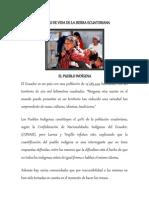 Formas de Vida de La Sierra Ecuatoriana