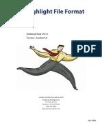 Highlight File Format
