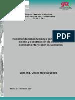 L-Recomendaciones técnicas para diseño de confinamientos de RP