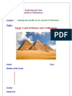 3as project unit 1 egypt land of history and civilizati - Resume De Science 3as Algerie