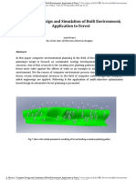 Computer Design and Simulation of Built Environment, CAD, CAE, Optimization, Decision making, Built environment. forest, trees. modeling of trees