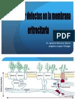 Anemias Por Defectos en La Membrana