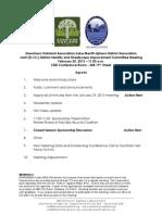 DISI Meeting February 28, 2013 Agenda Packet