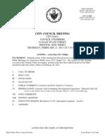 Trenton City Council Meeting February 21st