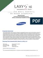 T-Mobile T959V Galaxy S 4G Spanish User Manual