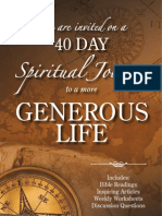 40 Day Spiritual Journey to a More Generous Life - Brain Kluth