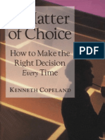 A Matter of Choice - Kenneth Copeland