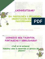 A investigar en Psicología y pedagogía
