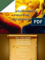 Lesson Vi the Development of Philippine Nationalism