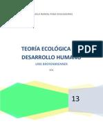 PRODUCTO ESCRITO DE LA TEORIA ECOLÓGICA