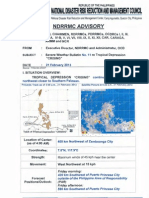 NDRRMC Advisory Re SWB No.11 TD Crising